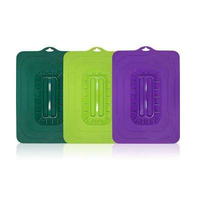 Colored Rectangular Silicone Suction (3-Piece)