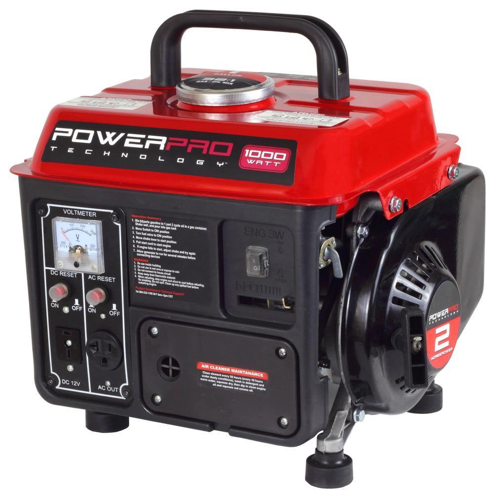 Power Pro Technology 1,000-Watt 2-Stroke Gasoline Powered Portable Generator by Power Pro Technology