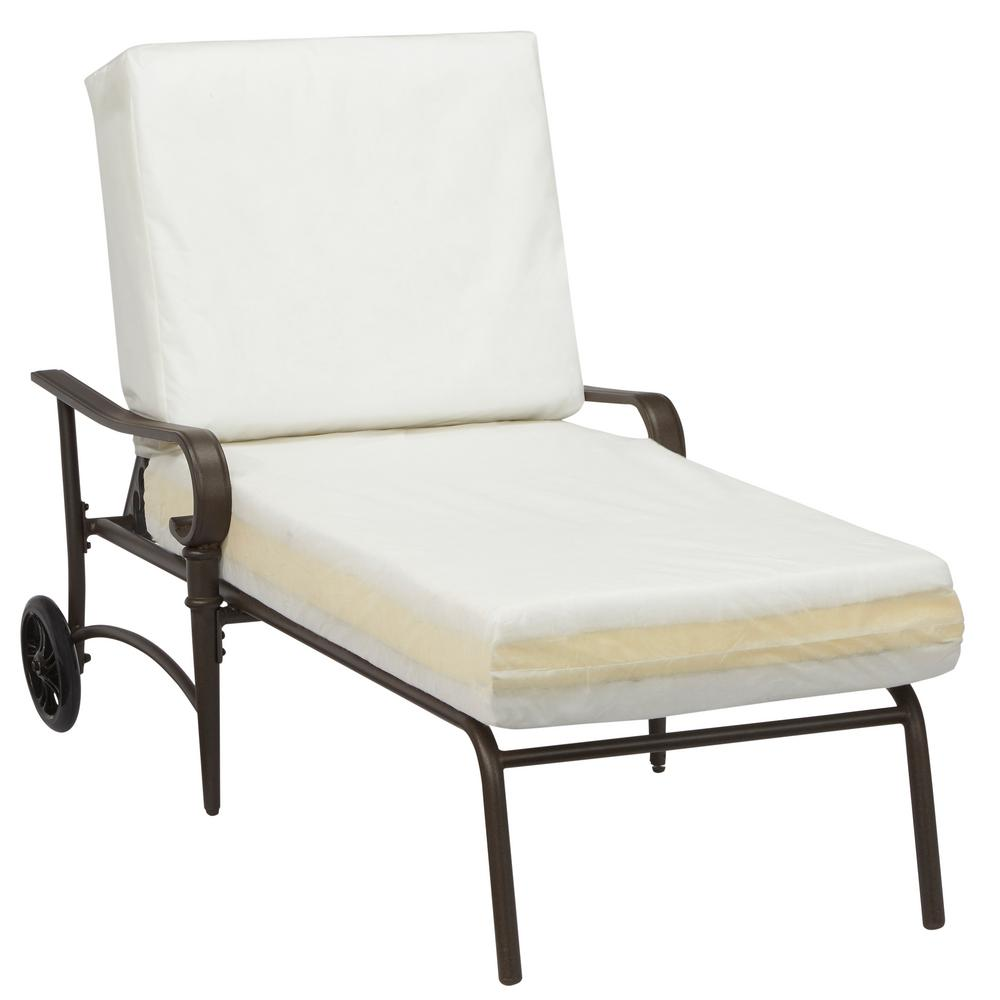 Hampton Bay Oak Cliff Custom Metal Outdoor Chaise Lounge ...
