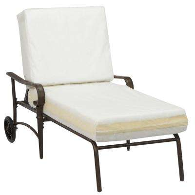 Oak Cliff Brown Steel Outdoor Patio Chaise Lounge with Bare Cushions
