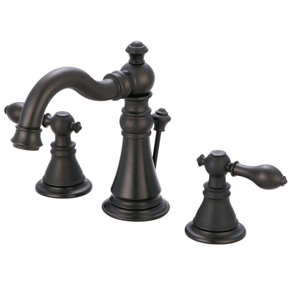 Widespread 2-Handle High-Arc Bathroom Faucet in Oil Rubbed Bronze