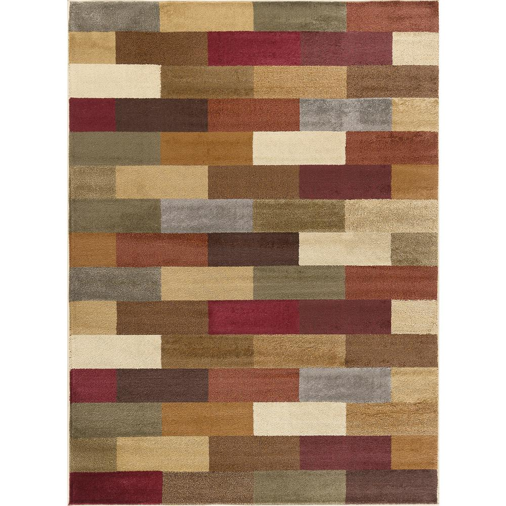 tayse rugs elegance multi 5 ft x 7 ft contemporary area rug 5180 multi 5x7 the home depot. Black Bedroom Furniture Sets. Home Design Ideas