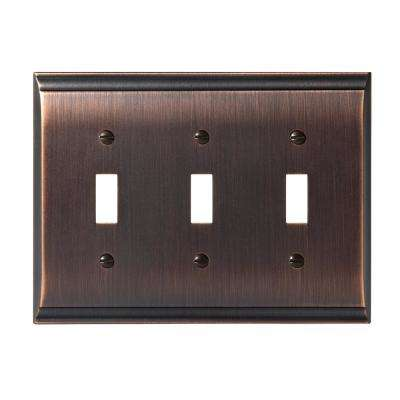 Candler 3-Toggle Wall Plate, Oil-Rubbed Bronze