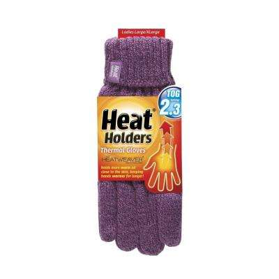 Women's Medium Purple Thermal Gloves
