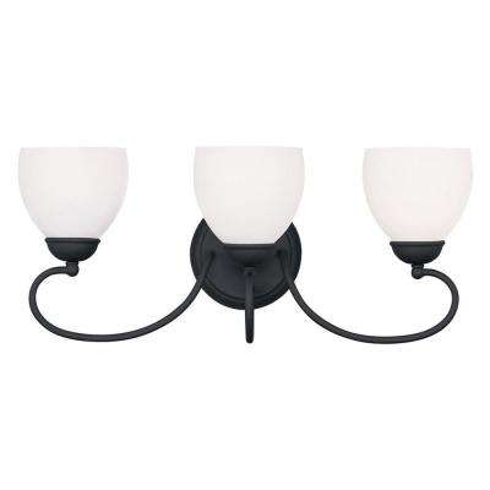 Providence 3-Light Black Incandescent Wall Vanity Light