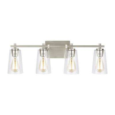 Mercer 4-Light Satin Nickel Bath Light