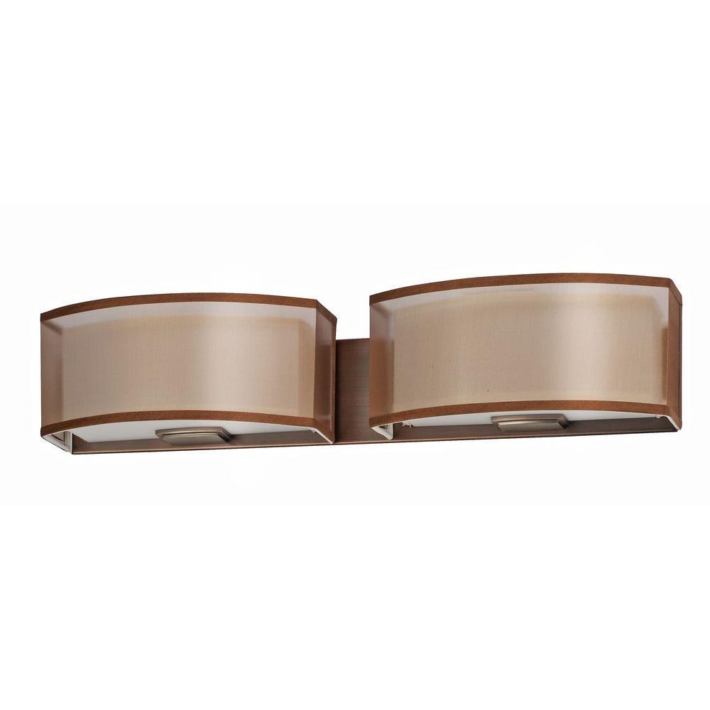 Radionic Hi Tech Orly 2-Light Oakley Bronze Vanity Light