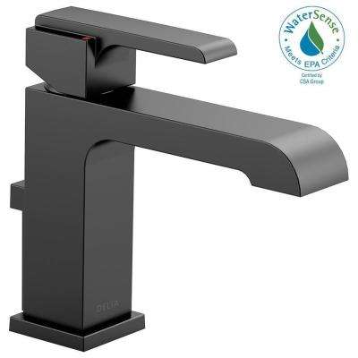 Ara Single Hole Single-Handle Bathroom Faucet with Metal Pop-Up in Matte Black