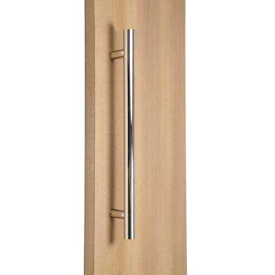 Ladder Style 60 in. x 1-1/4 in. Back-to-Back Polished Chrome Stainless Steel Door Pull Handle