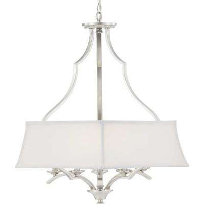 Carriage Hill Collection 6-Light Brushed Nickel Chandelier