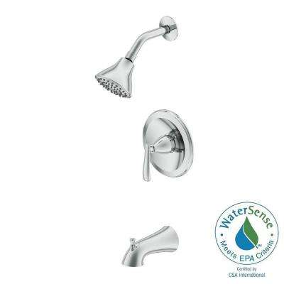 Zuri Pressure Balanced Single-Handle 1-Spray Tub and Shower Faucet in Chrome (Valve Included)