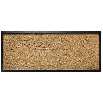 Gold 15 in. x 36 in. Brittany Leaf Boot Tray