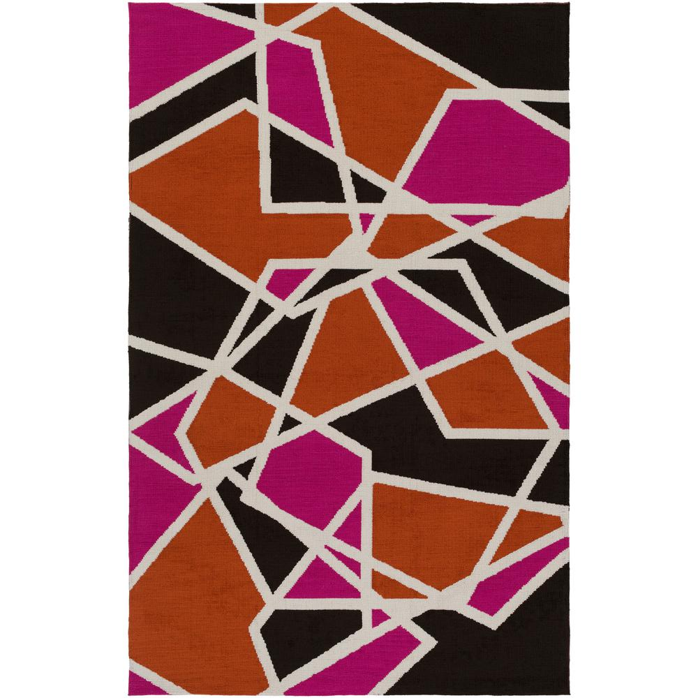 pink and black rug. Joan Holloway Hot Pink 5 Ft. X 8 Indoor Area And Black Rug