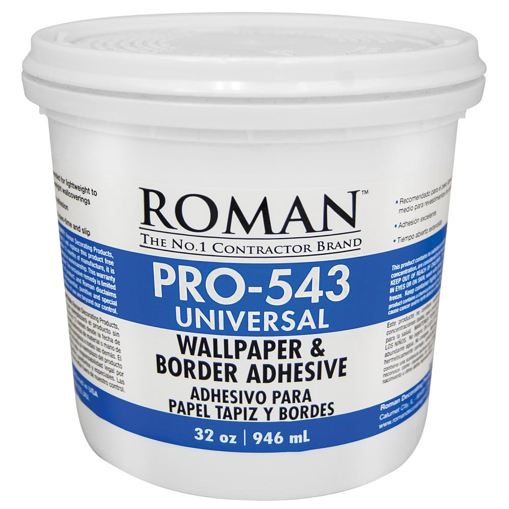 Details About New Universal Wallpaper And Border Adhesive 1 Qt Wall Paste Paper Glue Covering