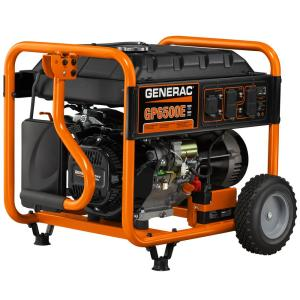 Generac 6,500-Watt Gasoline Powered Portable Generator by Generac