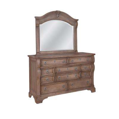 dressers for bedroom. Heirloom 10 Drawer Pewter Dresser with Mirror Dressers  Chests Bedroom Furniture The Home Depot