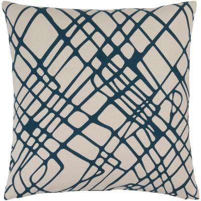 Kendal Purple Graphic Polyester 22 in. x 22 in. Throw Pillow