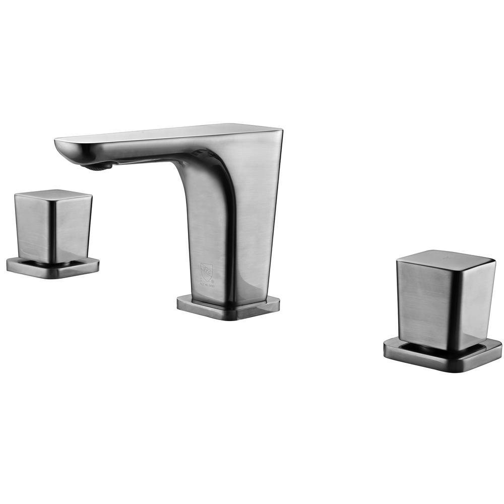 AB1782-BN 8 in. Widespread 2-Handle Luxury Bathroom Faucet in Brushed Nickel