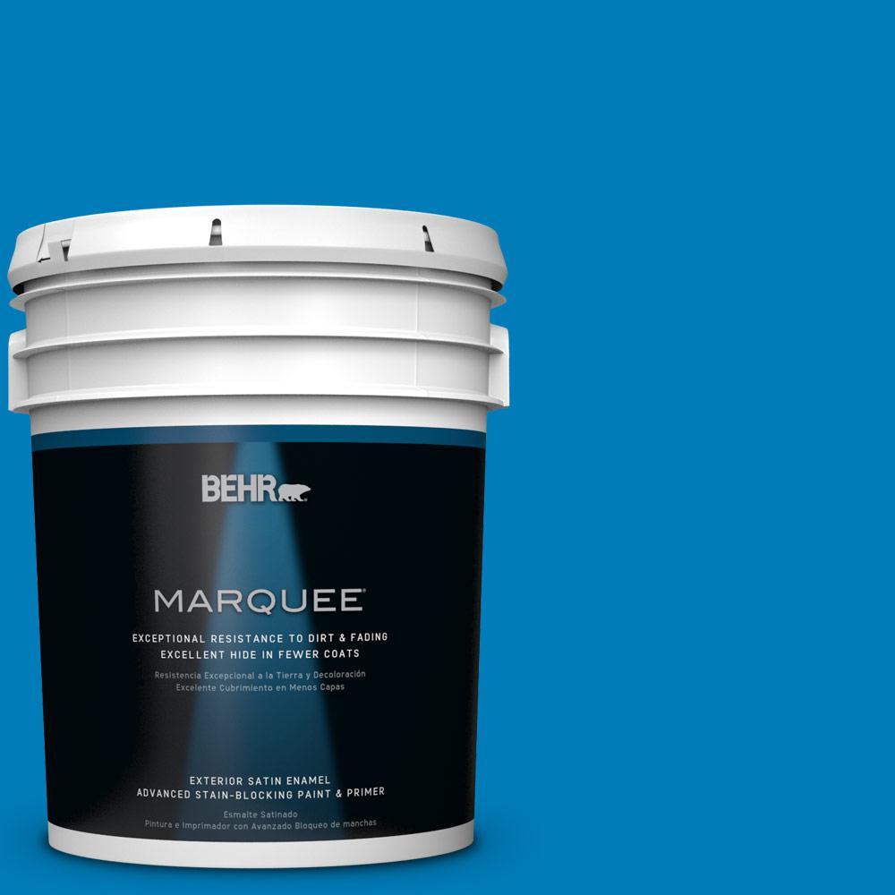 BEHR MARQUEE 5-gal. #S-G-550 Artesian Water Satin Enamel Exterior Paint