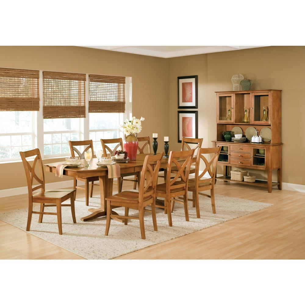 International Concepts Salerno Aged Cherry Wood Dining Chair (Set Of 2)