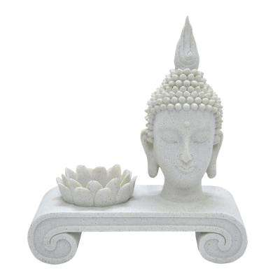9 in. Candle Holder W/Buddha