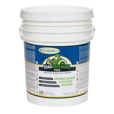 5 gal. Lead Defender PRO Off White Flat Interior/Exterior Paint and Primer Lead Paint Sealant and Treatment