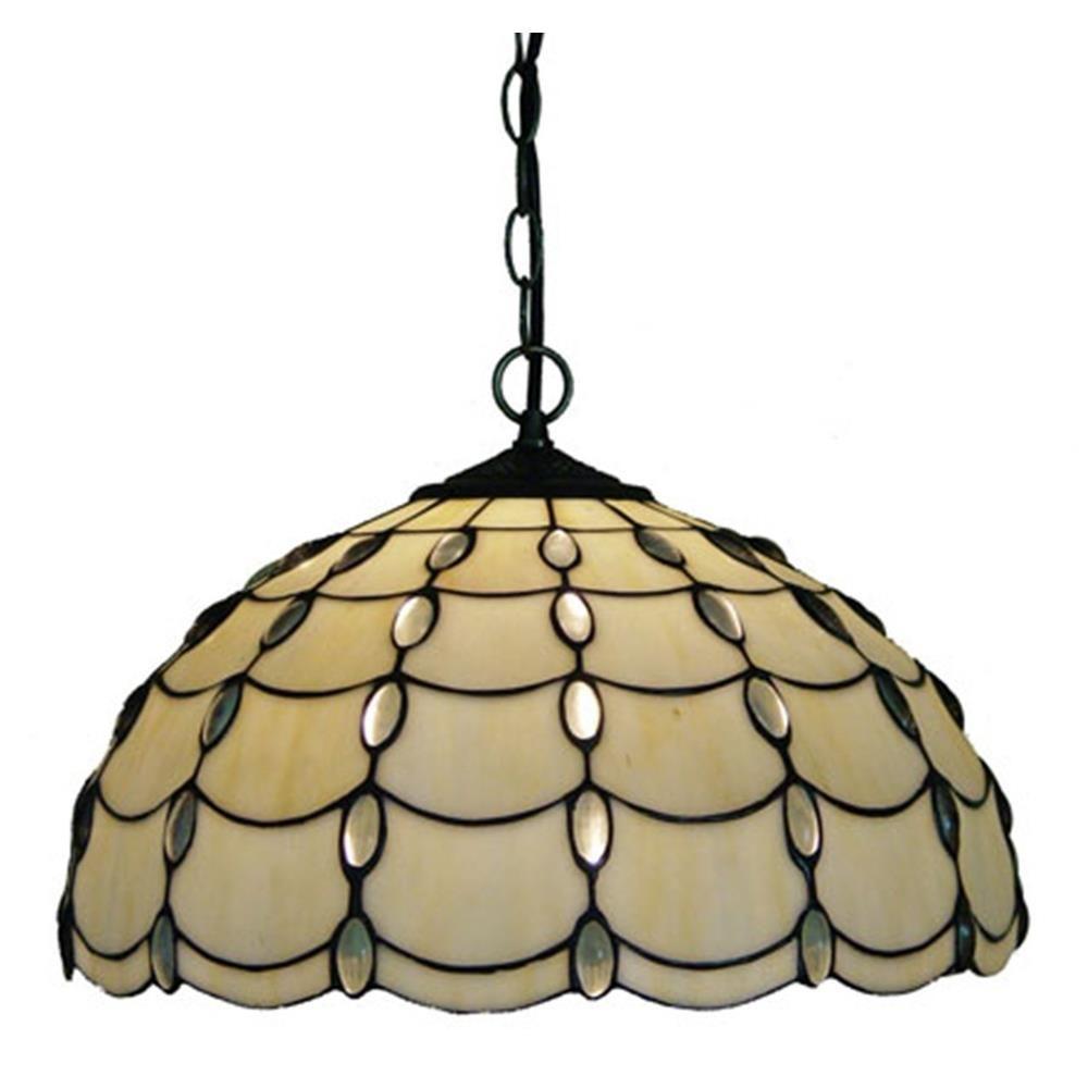 2-Light Tiffany Style Cascade Pendant
