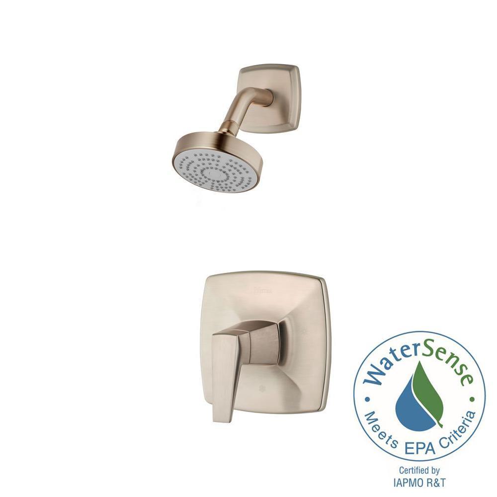 Arkitek Single-Handle Shower Faucet Trim Kit in Brushed Nickel (Valve Not