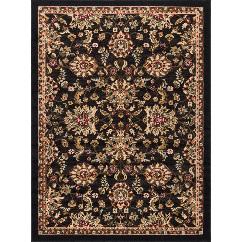 Tayse Rugs Laguna Charcoal 5 ft. x 7 ft. Transitional Area Rug