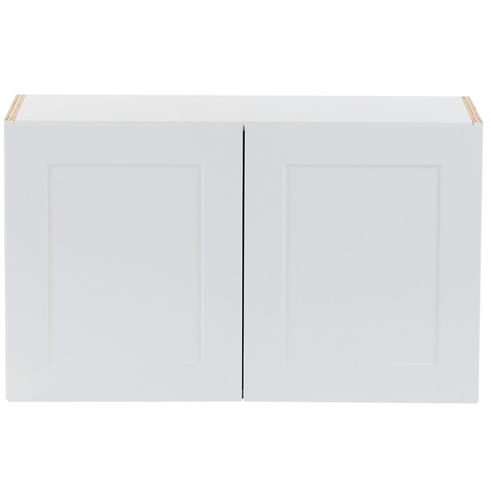 Cambridge Assembled 30x18x12.5 in. All Plywood Wall Cabinet in White