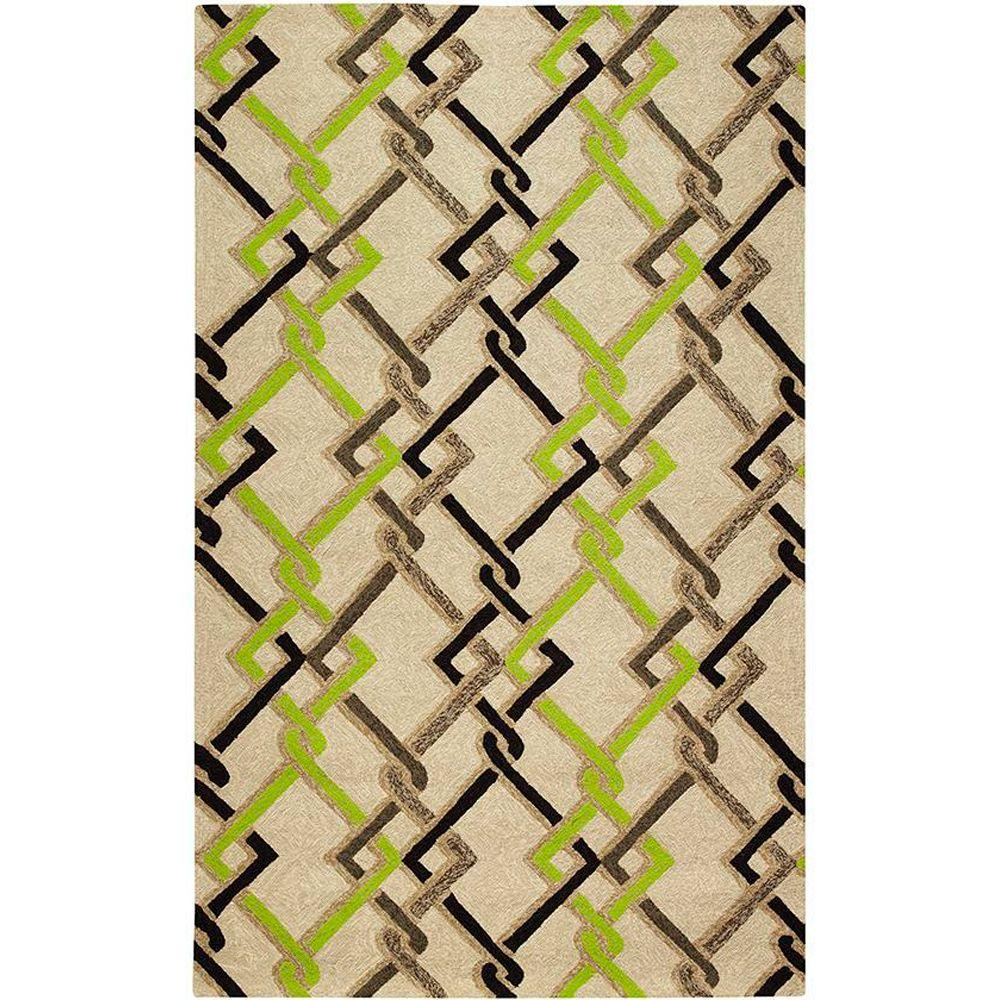 Home Decorators Collection Interlock Sand 3 ft. 6 in. x 5 ft. 6 in. Area Rug