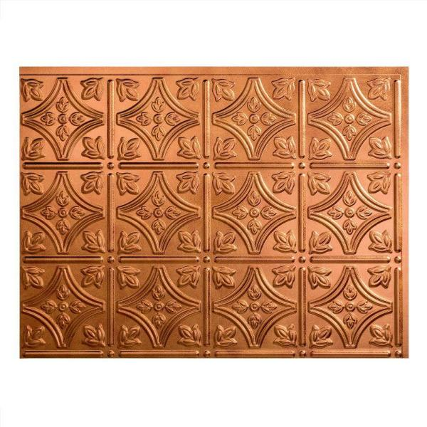 18.25 in. x 24.25 in. Antique Bronze Traditional Style # 1 PVC Decorative Backsplash Panel