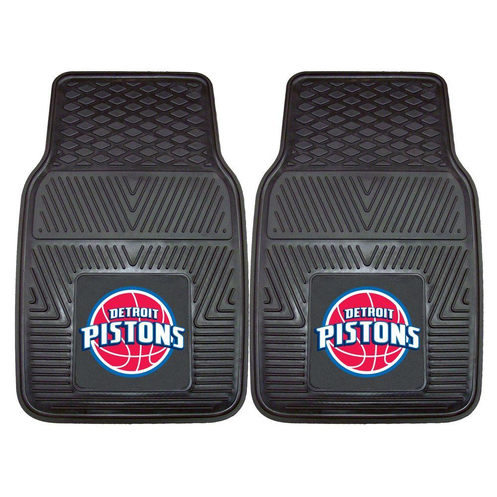 Fanmats Detroit Pistons 18 In X 27 In 2 Piece Heavy Duty