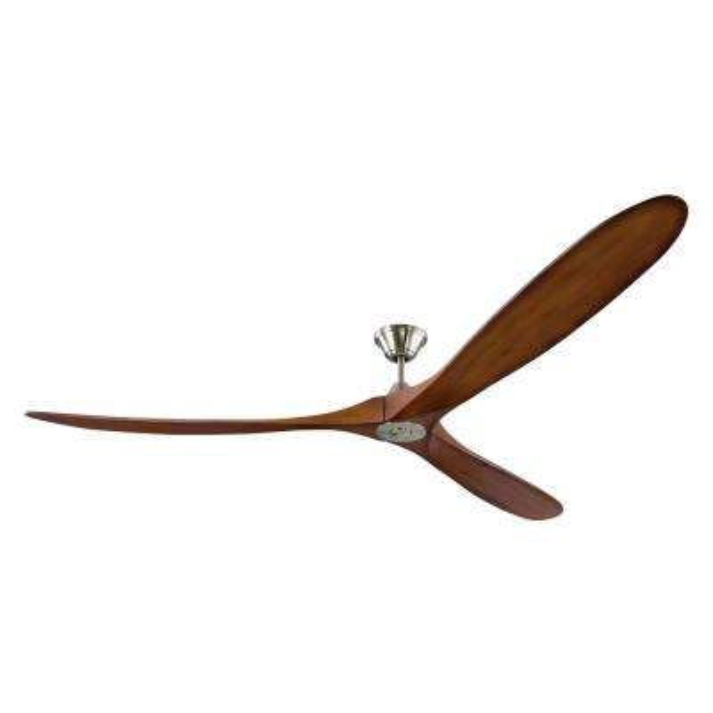 Maverick Super Max 88 In Indoor Outdoor Brushed Steel Ceiling Fan With Koa Blades