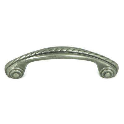 Charleston 3 in. Weathered Nickel Rope Design Arch Cabinet Pull