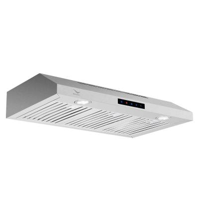 30 in. 480 CFM Ducted Under Cabinet Range Hood in Stainless Steel with Baffle Filters, Touch Screen Control