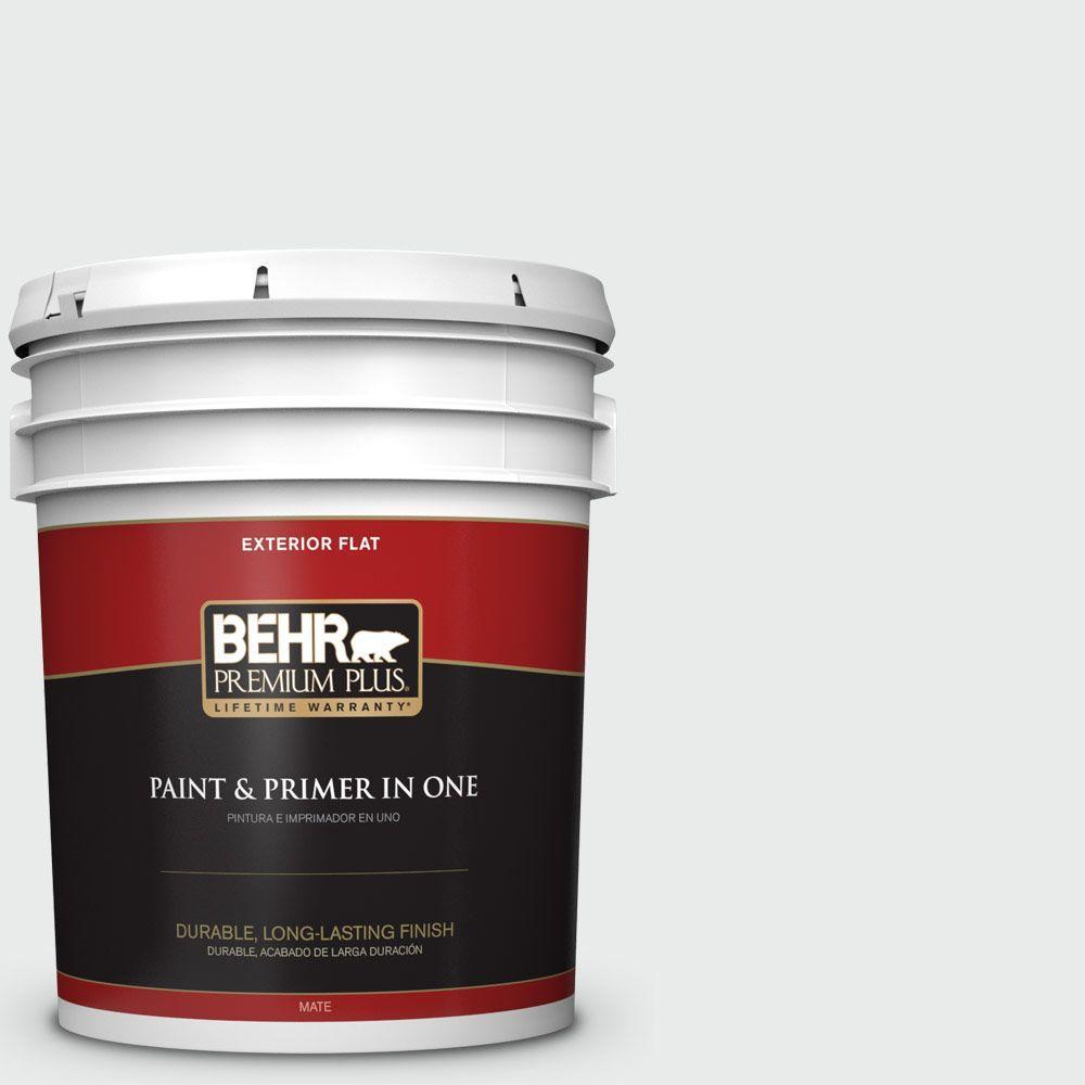 BEHR Premium Plus 5-gal. #W-F-510 Silver Sky Flat Exterior Paint
