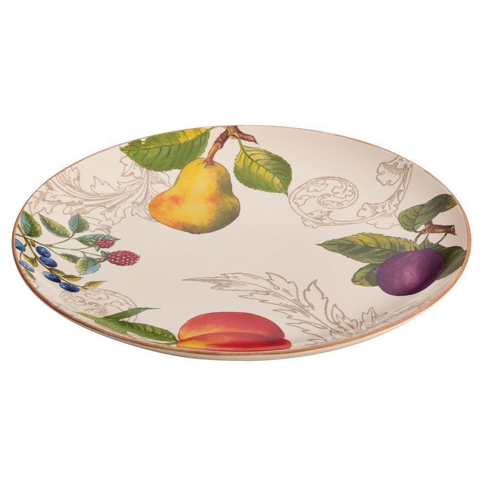 Dinnerware Orchard Harvest Stoneware 12 in. Round Platter