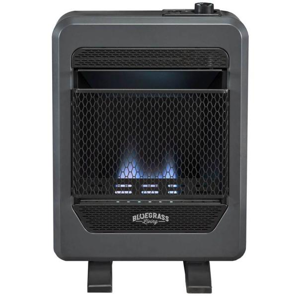 Bluegrass Living Propane Gas Vent Free Blue Flame Gas Space Heater With Base Feet 10 000 Btu T Stat Control 200084 The Home Depot