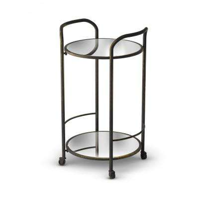 Katrine Brighton Black Gold Bar Cart