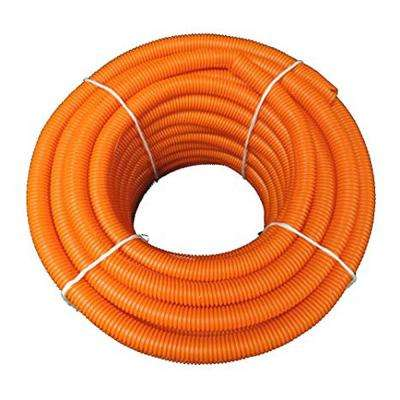 2 in. Dia x 100 ft. Orange Flexible Corrugated Polyethylene Split Tubing and Convoluted Wire Loom