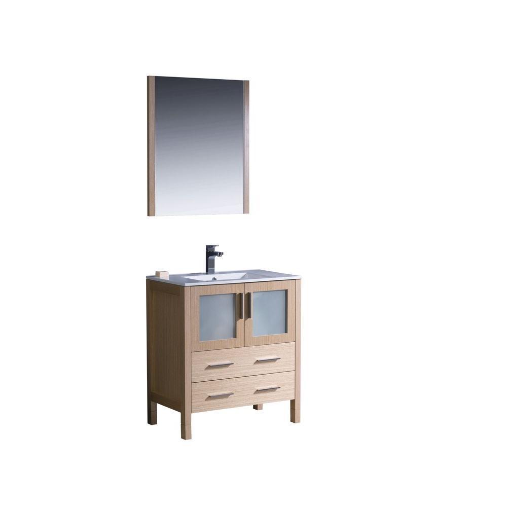 Vanity Grey Oak Vanity Top White Black Granite Sink Picture 1711