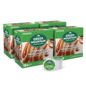 Green Mountain Caramel Vanilla Cream K-Cups (72-Counts)