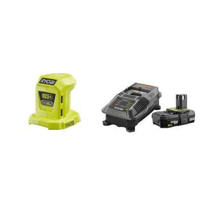 18-Volt ONE+ Lithium-Ion Portable Power Source with 2.0 Ah Battery and Charger Kit
