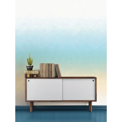 108 in. H x 72 in. W Horizon Turquoise Wall Mural