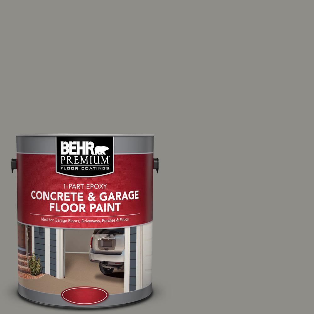 BEHR Premium 1 gal. #PFC-69 Fresh Cement 1-Part Epoxy Satin Interior/Exterior Concrete and Garage Floor Paint