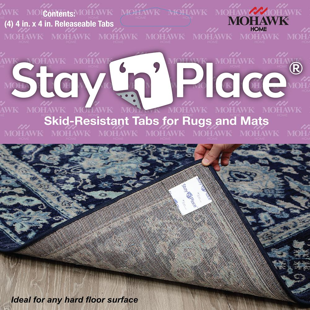 MOHAWKHOME Mohawk Home 4 in. x 4 in. Multi-Surface Carpet Tile Tabs