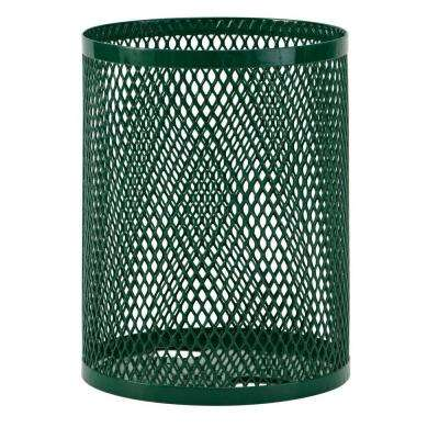 32 gal. Diamond Green Commercial Park Portable Trash Receptacle