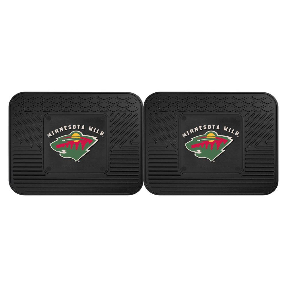 Fanmats Nhl Minnesota Wild Black Heavy Duty 14 In X 17 In