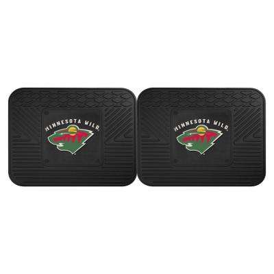 NHL Minnesota Wild Black Heavy Duty 14 in. x 17 in. 2-Piece Vinyl Utility Mat